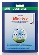 DENNERLE aquarico mini-lab 5in1 ACQUA STRISCE PER TEST PH NO2 NO3 GH KH