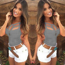 Sexy Women's Summer Vest Top Sleeveless Blouse Casual Tank Tops T Shirt New