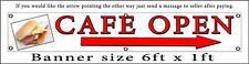 Cafe Banner abierta con diseño personalizado de Flecha publicidad personalizada PVC signos
