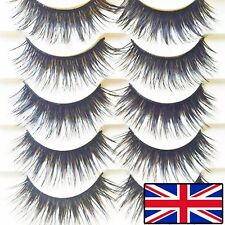5 PAIRS LONG THICK FALSE EYELASHES FAKE EYELASHES HANDMADE DRAMATIC EYELASHES
