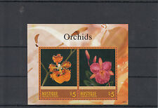 Mustique Grenadines St Vincent 2014 MNH Orchids 2v S/S II Flowers Oncidium