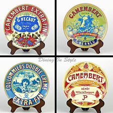 "Complete Set of 4 (8"") Salad Plates, MINT! Fromage, BIA Cordon Bleu, Cheese"