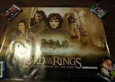 LORD OF THE RINGS FELLOWSHIP OF THE RING 2001 UK Quad signed Elijah Wood Proof