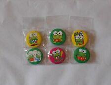 Badges Keroppi grenouille frog  lot de 6
