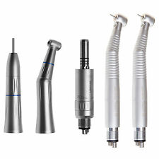 Dental Contrangulo Pieza de Mano Micromotor for KAVO + 2X Turbina Luz LED 4Hole