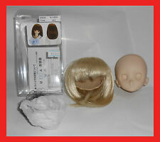 VOLKS DOLLFIE DREAM HEAD ddh-06 close eyes no used + blond wig W-155D color 613