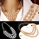 Women Charm Jewelry Chain Pendant Choker Chunky Statement Bib Necklace