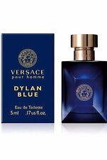 Versace Pour Homme DYLAN BLUE 0.17oz EDT eau de toilette travel mini Splash