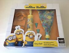 New Minions 7 PC Tiny Chef Lets Bake Set Cookie Cutter Rolling Pin Frosting Bag