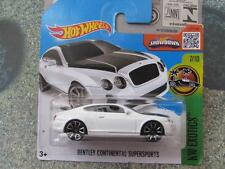 Hot Wheels 2016 #077/250 BENTLEY CONTINENTAL SUPERSPORTS white HW Exotics CASE D