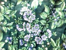 Laura Ashley Bramble Berry pillow shams 2 quilted green purple blue country chic