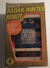 Vintage Wind Up  Radar Hunter Robot MIB NRFB