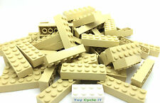 LEGO Bricks 10 x Tan 2x6 (New) Part No: 2456, Star Wars, City Parts / Pieces
