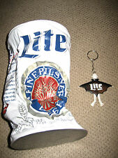 Miller Lite Blow Up Can and New Key Chain