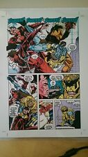 X-MEN 1992 JIM LEE MAVERICK SABRETOOTH COMIC PRODUCTION ART TRANSPARENCY