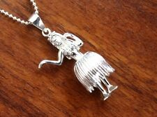 Hawaiian Jewelry 925 Sterling Silver HULA GIRL DANCER Pendant Necklace SP49701