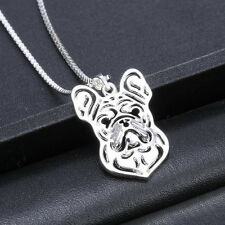 French Bulldog Pendant Necklace Silver Plated ANIMAL RESCUE DONATION