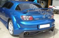 FOR  04-10 RX8 MSPEED GT SPORT REAR WING TRUNK SPOILER WITH ALUMINIUM BRACKET