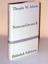 Theodor w. adorno: notas sobre la literatura II. 1.-5. tsd. 1961