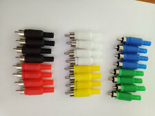 24 pcs 6 color RCA Plug Solder Type Audio Cable Connector