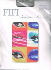 Fifi Tights Lips And Eyes Pattern