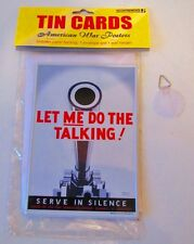 """Accoutrements Tin Card American War Posters 4""""x6"""" """"Let Me Do the Talking"""""""