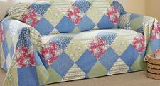 "Country Style Calico Patchwork SOFA Cover Furniture Throw 140""L x 70""W Cotton"