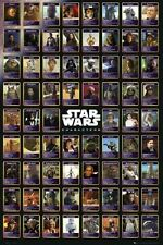 STAR WARS MOVIE POSTER (61x91cm) Character Chart Vader Skywalker NEW LICENSED