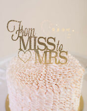 Personalized Heart Miss to Mrs Cake Topper Top Girls Bachelor Party Decoration