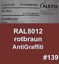REVÊTEMENT EN POUDRE Anti-graffitis 1kg De RAL8012 brun