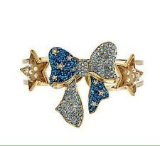 """RARE NWT AUTH BETSEY JOHNSON """"HEAVENS TO BETSEY"""" BOW & STAR HINGED CUFF BRACELET"""