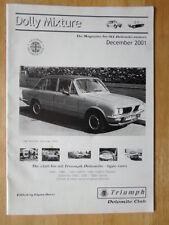 TRIUMPH Dolomite propietarios Club revista Folleto diciembre 2001 Edición-Dolly mezcla