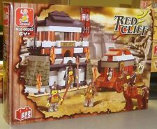 Sluban Building Blocks Red Cliff Battle Knights Fortress 233 PC Set New