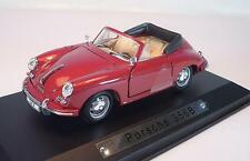 Atlas 1/43 Porsche 356B Cabrio rot in Plexi-Box #1473