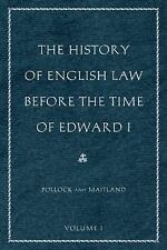 THE HISTORY OF ENGLISH LAW BEFORE THE TIME OF EDWARD I [9780865977525] NEW PAPER