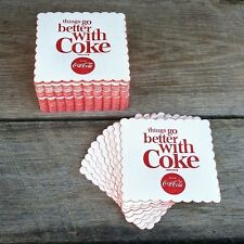 100 WHOLESALE Coaster Lot 1963 COCA-COLA Things Go Better COKE DRINK Coasters