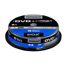 10 DVD+R DL INTENSO DOBLE CAPA 8x 8.5 GB DOUBLE LAYER PRINTABLE
