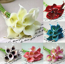 1 PCS Calla Lily Bridal Bouquet Latex Real Artificial Touch Flower Home Decor