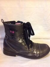 Girls Monster High Dark Grey Boots Size 33