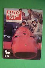 AUTOSPRINT 50/1969 ITALIA IMX COUPE GT 5800 FERRARI 312 FIAT 128 DE SANCTIS F3