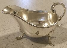 Shipping Line Crest Sauceboat Mappin & Webb Silver Plate  Collectible 2 Of 2