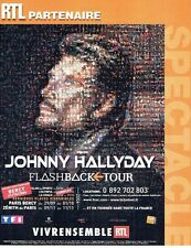 PUBLICITE ADVERTISING 027  2006  Johnny Hallyday  Flashback Tour & radio RTL