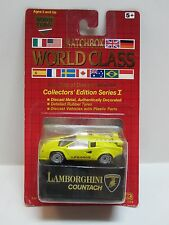 Matchbox World Class LAMBORGHINI COUNTACH in Yellow Series 1 with Real Rubber Ti
