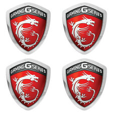 MSI Gaming G Series Shield Lot of Four 1x0.85 Chrome Effect Flat Stickers