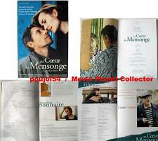 AU COEUR DU MENSONGE/COLOR OF LIES - Bonnaire DOSSIER DE PRESSE/FRENCH PRESSBOOK