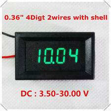 DC 3.5-30V 4 Digital Green LED Volt Voltage Meter Panel Voltmeter 5V 12V 24V Car