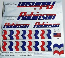 Officially licensed Robinson old school BMX decal set 1987-1990 on CHROME