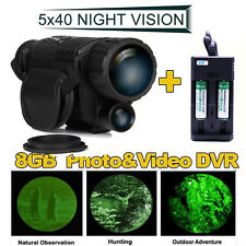 2x14500 Battery+5x40 Infrared Dark Night Vision IR Monocular Binoculars For Hunt