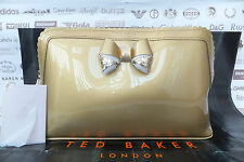TED BAKER Ladies Wash Bag ARDITH Large Make-Up Scallop Edge Gold Pvc Bags BNWT