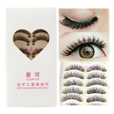 New Long 10 Pairs Makeup Beauty False Eyelashes Thick Cross Eye Lashes Extension
